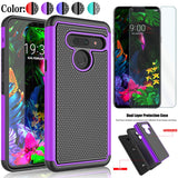 Hybrid Shockproof Armor Phone Cover + Tempered Glass For LG G8 / G8 ThinQ - carolay.co phone case shop