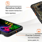 Heavy Duty 3-in-1 Shockproof Case with Belt Clip Kickstand + 9H Clear Glass Protector for LG G8 ThinQ - carolay.co phone case shop
