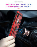 Military Grade 15ft. Drop Tested Protective Kickstand Magnetic Car Mount Case - carolay.co phone case shop