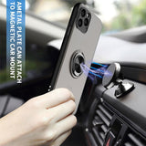 Car Holder Case For iPhone 11 Pro Max Case Cover Clear With Ring Holder Stand Protective Case - carolay.co phone case shop