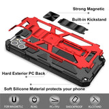 Shockproof Armor Kickstand Magnetic Ring Holder Phone Case - carolay.co phone case shop
