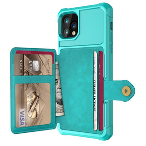 Credit Card PU Leather Flip Wallet Photo Holder Hard Back Cover - carolay.co phone case shop