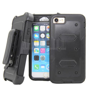 Armor Hybrid Cases with Shockproof 360 Degree Belt Clip for iPhone 7/7 Plus - carolay.co phone case shop