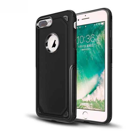 Carbon Fiber Case + Tempered Glass Screen Protector, Shockproof Cover for iPhone 7 Plus / 8 Plus - carolay.co phone case shop