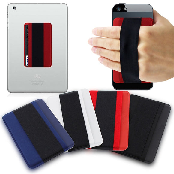 Sling Grip Phone  Finger Stand With Card Slot Holder Elastic Finger Grip Belt - carolay-co