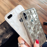 Diamond Texture Case For iPhone 6 6s 7 8 Plus X XR XS - carolay-co