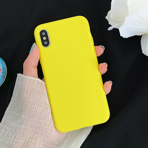 Case For iPhone 6 6S 7 8 Plus X XS XR XS Max Lemon Yellow Candy - carolay.co phone case shop