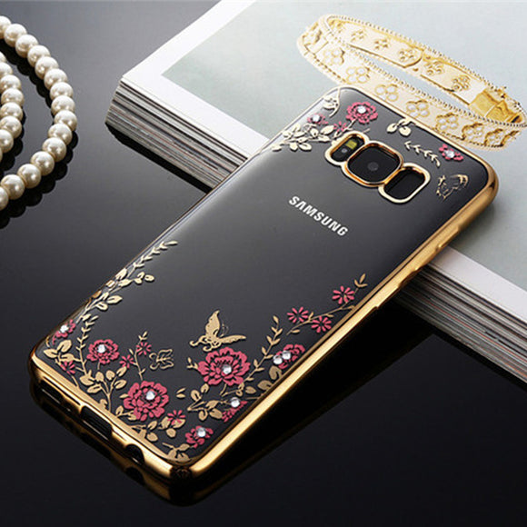 Soft Flower case For Samsung Galaxy S8 gold / S8 - carolay.co