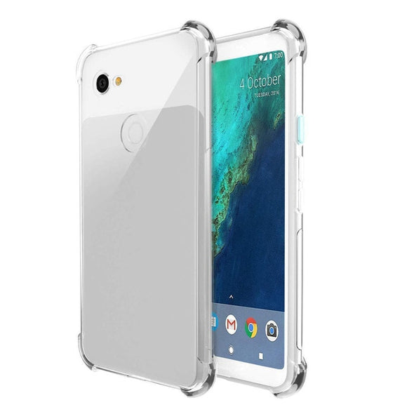 Clear TPU Four Corners Drop Case Cover For Google Pixel - carolay.co phone case shop