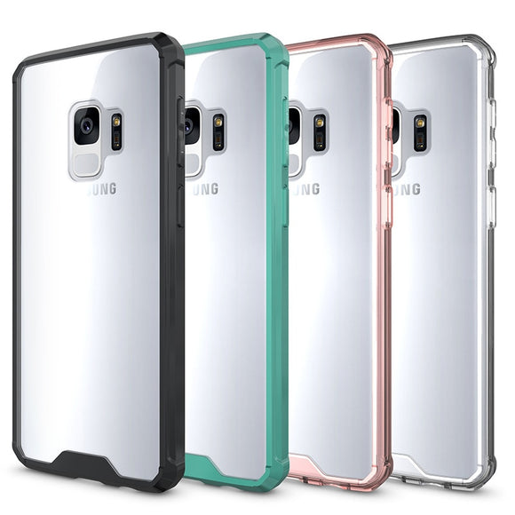Hybrid Hard Clear Case for Samsung Galaxy S9 Case for Samsung S9 S8 Plus TPU Bumper - carolay.co phone case shop