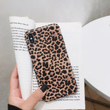Leopard print Phone Case For iphone XS Max XR X  6 6S 8 7 plus - carolay.co phone case shop