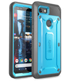 Full-Body Rugged Holster Clip Case with Built-in Screen Protector For Google Pixel 3 Case - carolay.co phone case shop