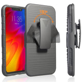 Heavy Duty Kickstand Armor Case with Belt Clip Swivel Holster For Motorola One Power / P30 Note - carolay.co phone case shop