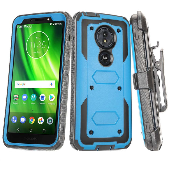Heavy Duty Hybrid Armor Belt Clip Holster Case For Motorola Moto G6 Play XT1922 / G6 Forge /Moto E5 - carolay.co phone case shop