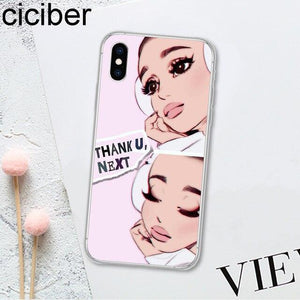 Ariana Grande AG Sweetener Soft Silicon Clear for iPhone - carolay.co - free shipping