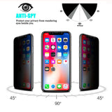 Anti Spy Tempered Glass For iPhone X XS MAX XR 10 6 6S 7 8 Plus -Privacy Screen - carolay.co phone case shop