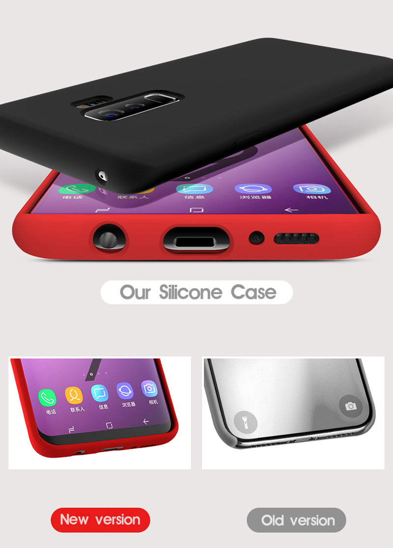 Luxury Soft Liquid Silicone Cases For Samsung Galaxy S8