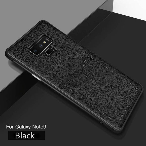 Leather Case for Samsung Note 9 S8 S9 S10 Plus Cases Leather Card Holder - carolay.co phone case shop