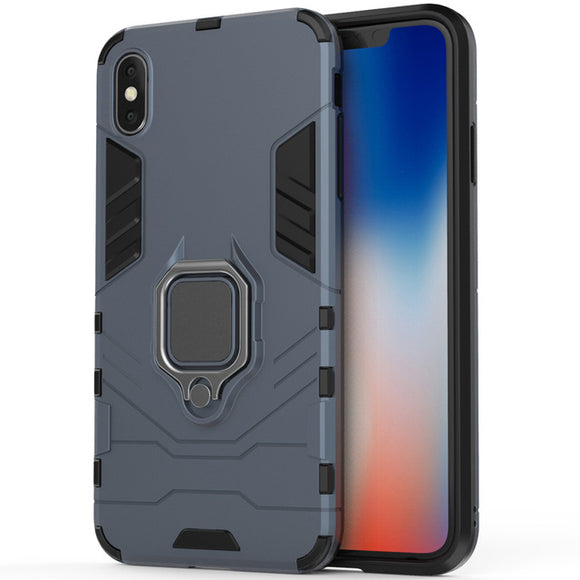 Shockproof Magnetic Ring Armor Case for iPhone XS Max - carolay.co phone case shop
