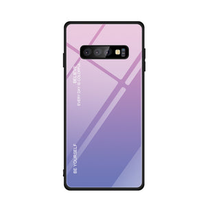 Phone Case For Samsung Galaxy S10 - Tempered Glass Case - carolay.co phone case shop