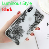 Sexy Floral Phone Case For Apple iPhone 7 8 Plus Lace Flower Hard PC Case - carolay.co phone case shop