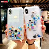 Liquid Glitter Quicksand Silicone Soft Tpu Case for IPhone Xs Max Xr X 6 6s 7 8 Plus - carolay.co phone case shop