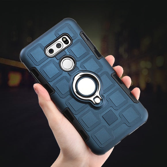 Metal Bracket Ring mobile Case Coque For LG V30 Plus Car Magnet - carolay.co phone case shop