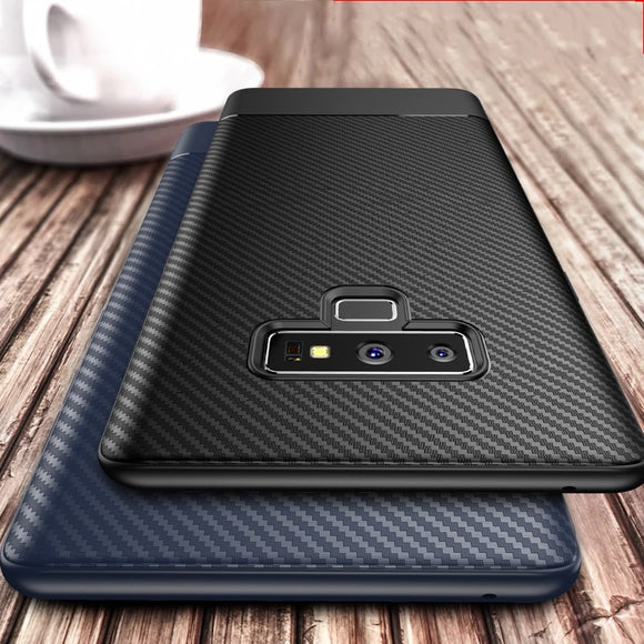 Carbon fiber case for Samsung Galaxy Note 9 S10 Plus  S8 S9 S10 - carolay.co phone case shop