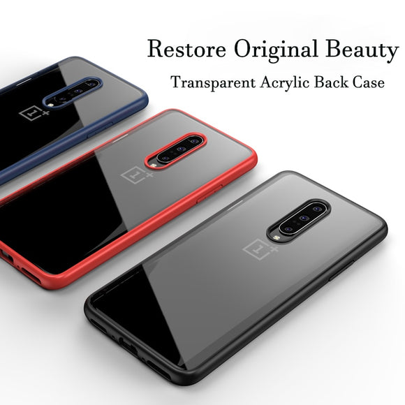 Case for OnePlus 7 Pro Case Anti-knock Transparent Acrylic Reinforced Corner TPU - carolay.co phone case shop