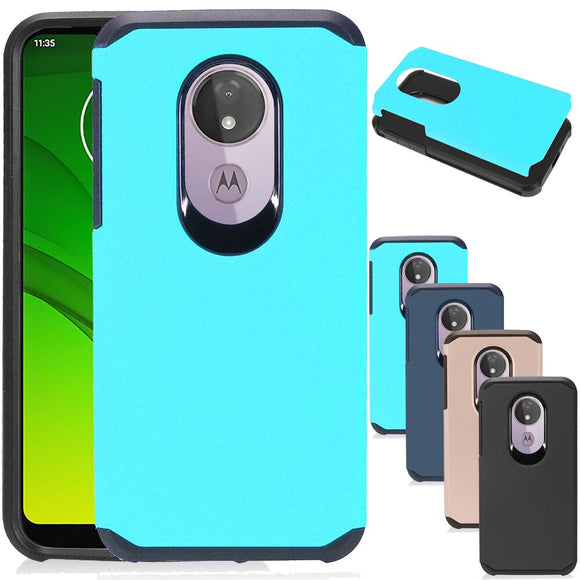 Dual Layer Hybrid Armor Case Shockproof Soft TPU&Hard Back Cover For Motorola Moto G7 Power / G7 Supra XT1955 - carolay.co phone case shop