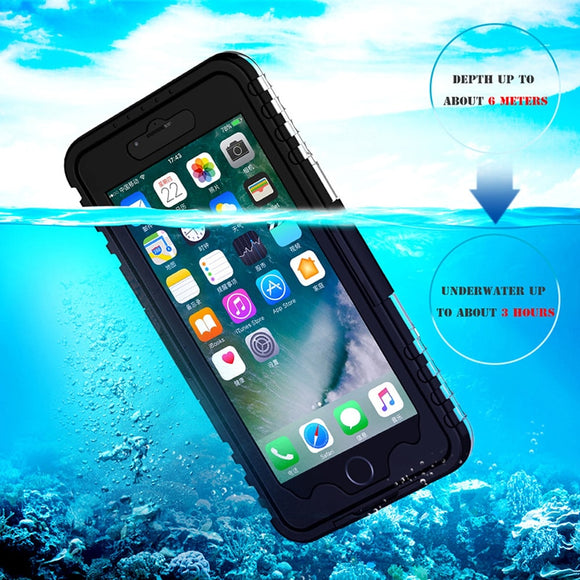 Waterproof Phone Cases for iPhone 8 7 6s Plus Phone Screen Soft TPU Swimming - carolay.co phone case shop