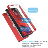Full Body Protective case Tempered Glass Screen Protector for iPhone - carolay.co phone case shop