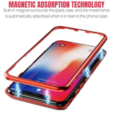 Magnetic Adsorption Double Sided Glass Clear Case Cover For iPhone - carolay.co phone case shop