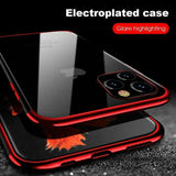 Luxury Slim Rubber Plating Clear Bumper Case for iPhone - carolay.co phone case shop