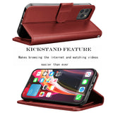 Case Leather Flip Wallet Holder Stand Cover For iPhone - carolay.co