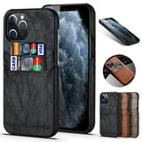 Slim Back Leather Card Case For iPhone