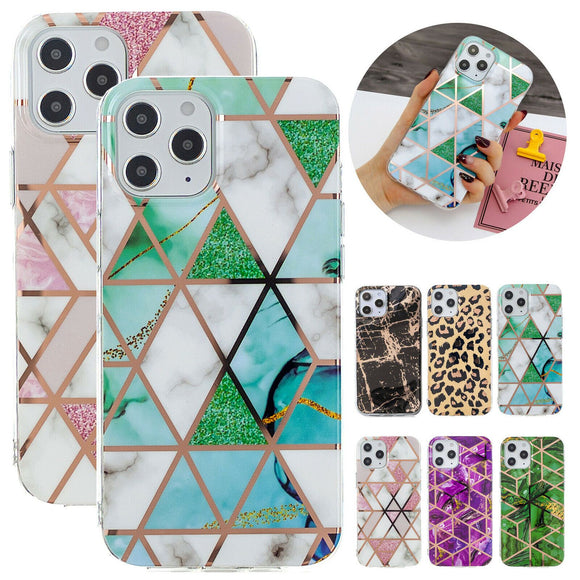 Marble Glossy Soft Slim Back Case For iPhone