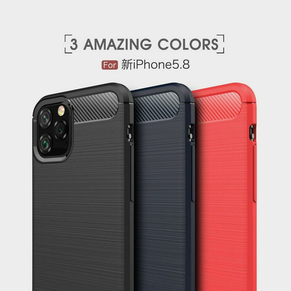 Carbon Fiber Case Shockproof Silicone Soft For iPhone - carolay.co phone case shop