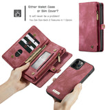 Magnetic Zipper Leather Wallet Case For iPhone - carolay.co - free shipping