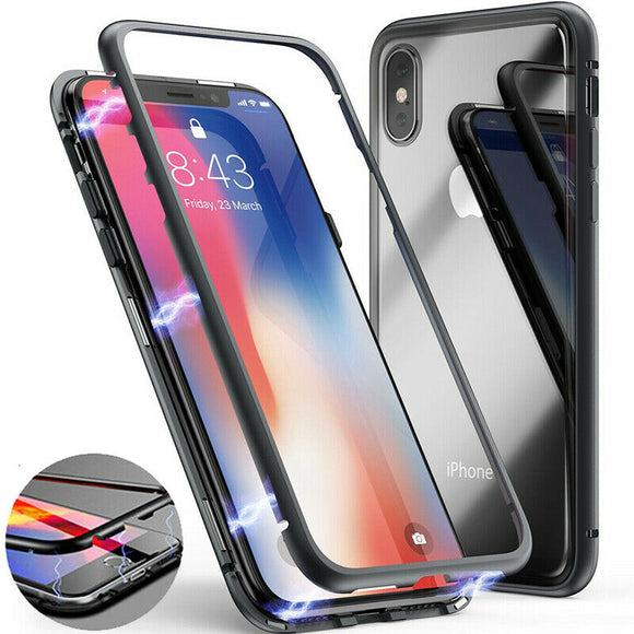 Magnetic Adsorption Metal Slim Luxury Phone Back Case Cover For iPhone X XS 8 7 - carolay.co phone case shop
