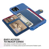 Leather Holder Flip Card Wallet Cover For iPhone - carolay.co