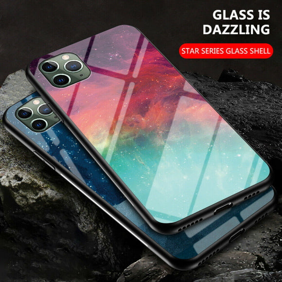 Pattern Tempered Glass Back Case For iPhone 11 - carolay.co phone case shop
