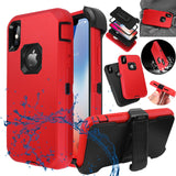 Heavy Duty Shockproof Hybrid Rugged Armor Case Belt Clip For iPhone - carolay.co phone case shop
