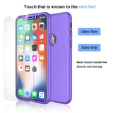 Case Full Body Cover +Tempered Glass For iPhone - carolay.co phone case shop