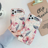 Rubber Marble Slim Soft Case For iPhone - carolay.co phone case shop