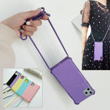 Untra Slim Crossbody Shoulder Strap Back Case Cover For iPhone - carolay.co phone case shop