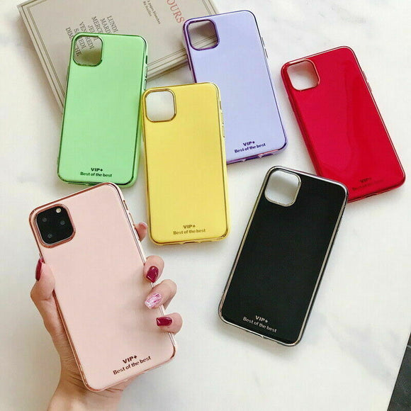 Plating Soft Slim Hybrid Shockproof Case For iPhone - carolay.co phone case shop