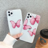 Butterfly Pattern Soft Rubber Back Case For iPhone - carolay.co - free shipping