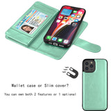 Wallet Case Flip Leather Card Stand Cover For iPhone - carolay.co - free shipping