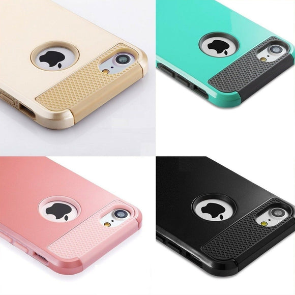 Hard Case Hybrid Heavy Duty Shockproof Rubber Cover for iPhone - carolay.co phone case shop